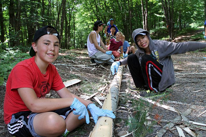 Arrowhead Campers taking part in the nature program.