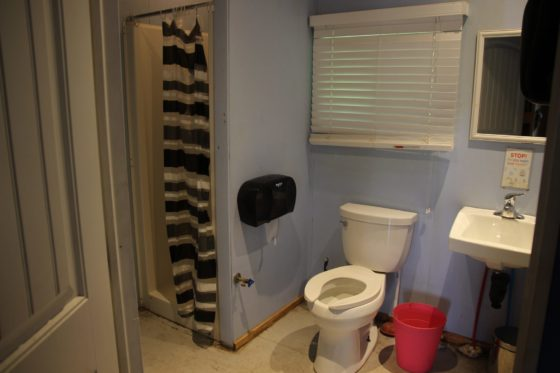 Cabin bathrooms at Arrowhead Camp