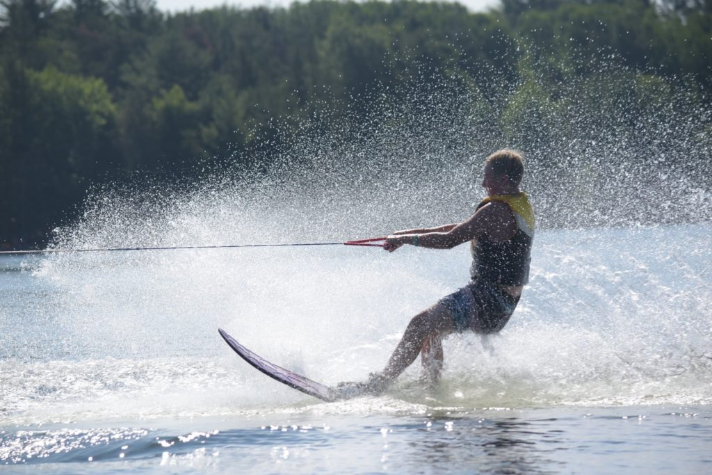 Camper water skiing at Arrowhead Camp.