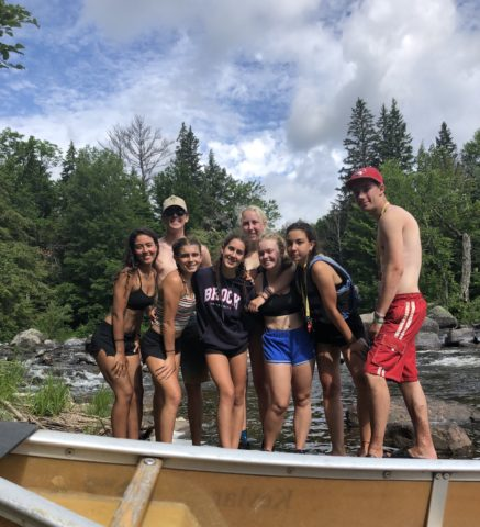 LIT campers and staff on an Algonquin Park canoe trip with Arrowhead Camp.